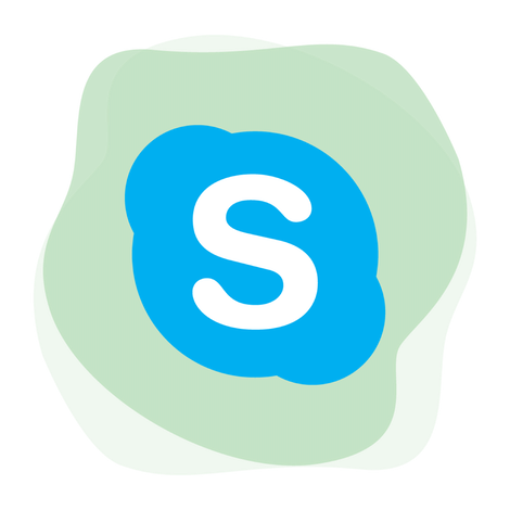 How to unblock Skype with a VPN: Skype logo.
