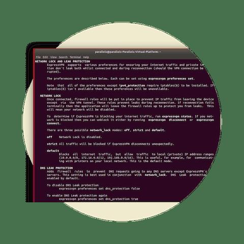 Network Lock per Linux. Linee di codice su Linux.