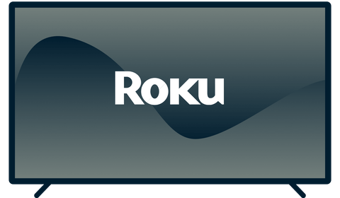 Roku logo on a TV.