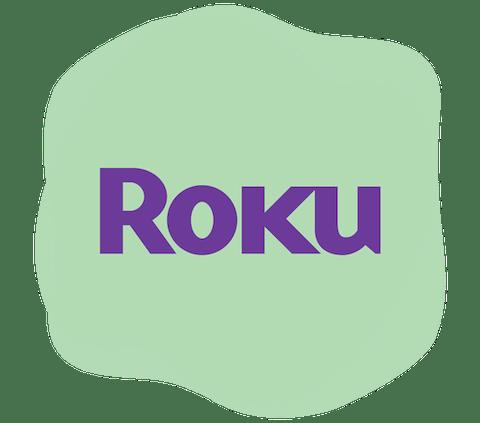 Roku logo.