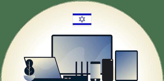 様々なデバイスを保護するイスラエルVPN。