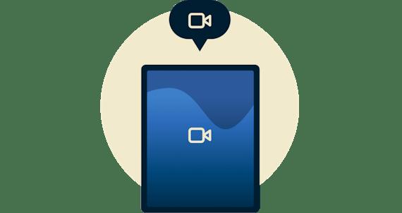 video-ikoni iPad-laitteella