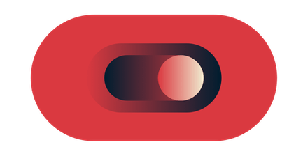 Toggle button in red.