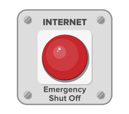Internet Emergency Shut Off button.