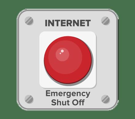 インターネット緊急シャットオフボタン。