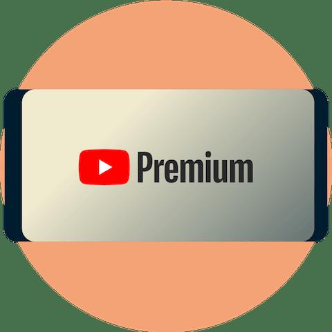 YouTube Premium sur un écran de téléphone