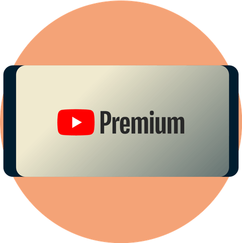 YouTube Premium on a screen with an open padlock.