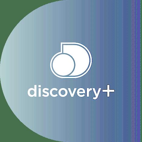 Discovery Plus logo.