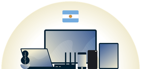 Argentina VPN protecting a variety of devices.