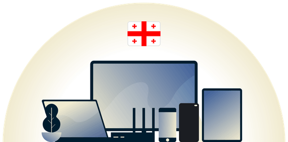 Georgia VPN protecting a variety of devices.