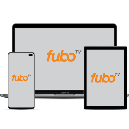 fuboTV unblocked on a computer, phone, and tablet.