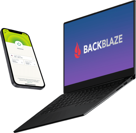 Use ExpressVPN and Backblaze on all your devices for all-in-one online protection and backup storage