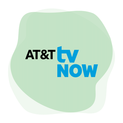 AT&T TV Now logos.