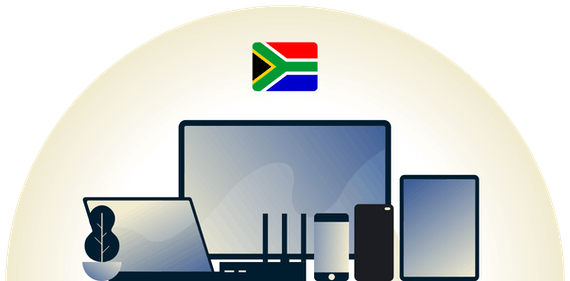 South Africa VPN protecting a variety of devices.