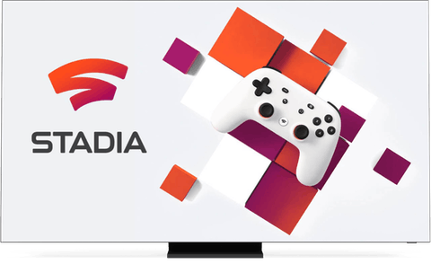 Google Stadia interface on a desktop.