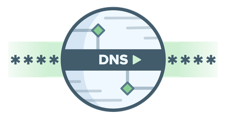 DNS logo showing DNS requests are encrypted