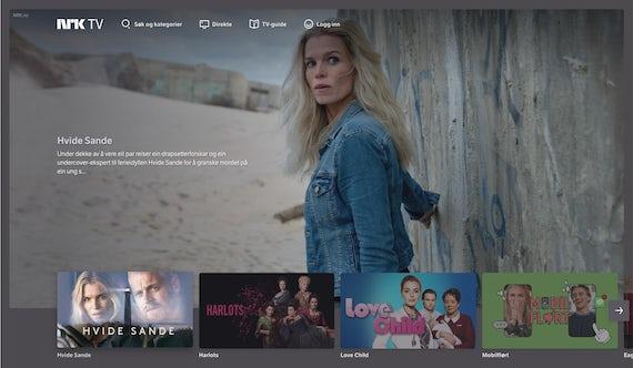NRK TV on a desktop screen