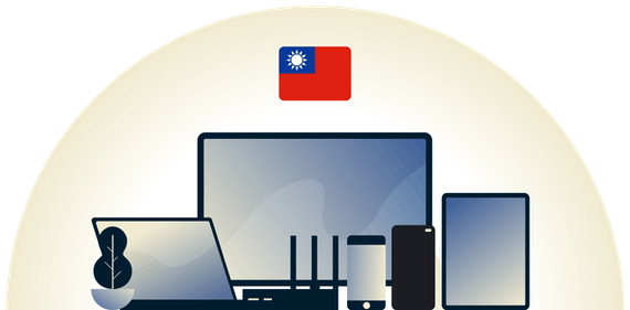 Taiwan VPN protecting a variety of devices.