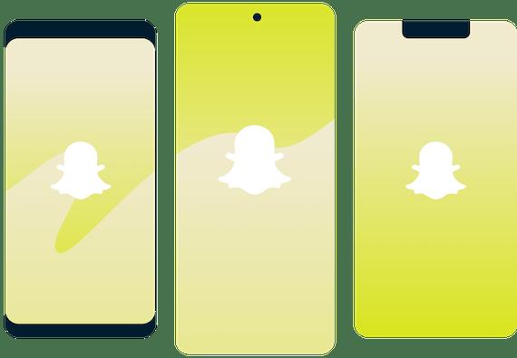 Snapchat logo on smartphones.
