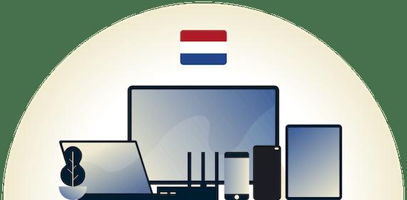 VPN olandese che protegge una varietà di dispositivi.