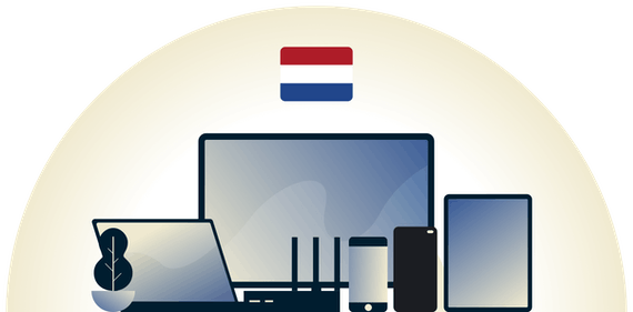 Netherlands VPN protecting a variety of devices.
