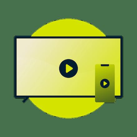 VPN이 활성화된 기기에서 Chromecast를 장착된 TV로 미러링되는 동영상