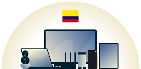 Colombia VPN protecting a variety of devices.