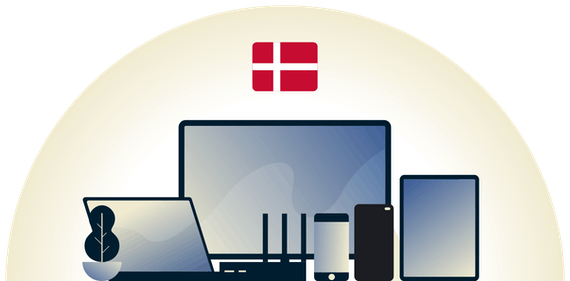 Denmark VPN protecting a variety of devices.