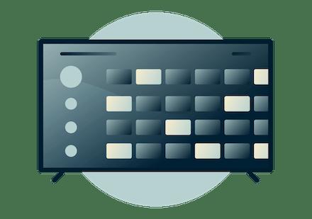 Shield TV dashboard.