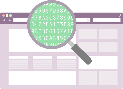 Magnifying glass over a browser: A VPN hides your IP and encrypts your data, so no one can snoop on you.