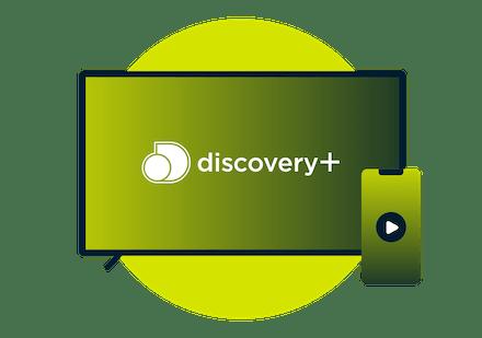 Discovery Plus på en TV och en smartphone.