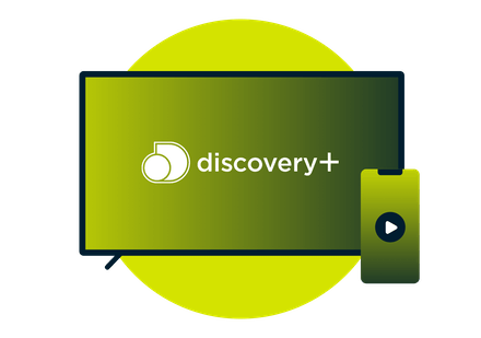 Discovery Plus on a TV and a smartphone.