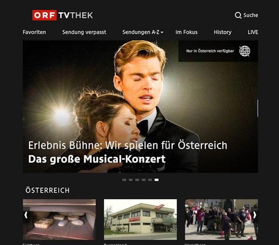 ORF on a desktop screen.
