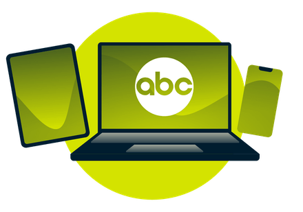 Watch ABC on smartphone, computer, and tablet.