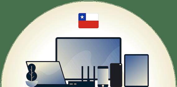 Chile-VPN, das eine Vielzahl von Geräten schützt.