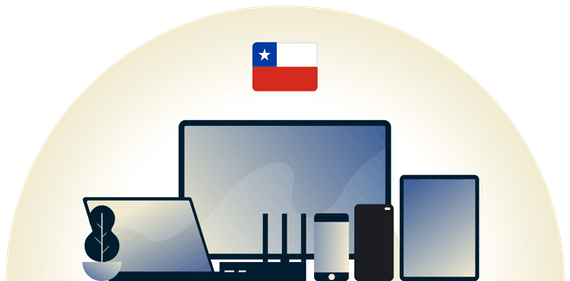 Chile VPN protecting a variety of devices.