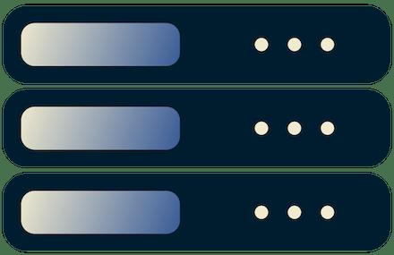 Server des Internetanbieters aufeinander gestapelt