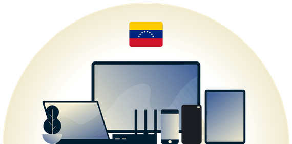 Venezuela VPN protecting a variety of devices.