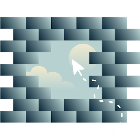 Cursor hovering over a breached wall.