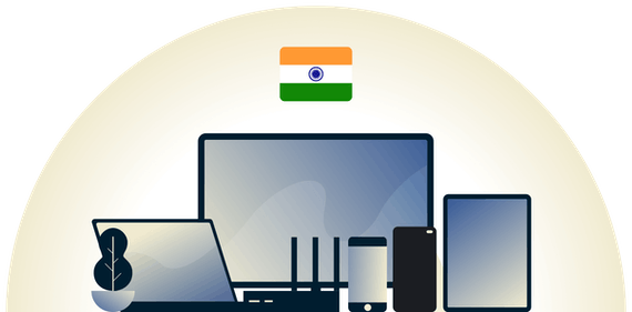 India VPN protecting a variety of devices.