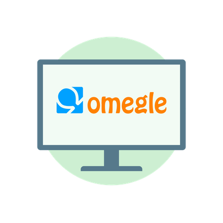 What is Omegle: Omegle logo.
