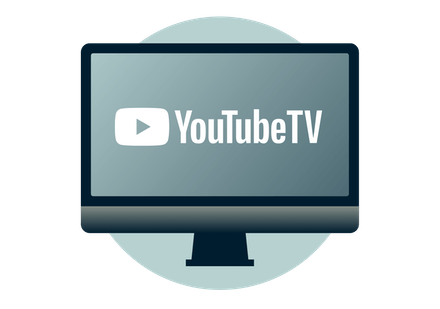 YouTube TV on a computer monitor.