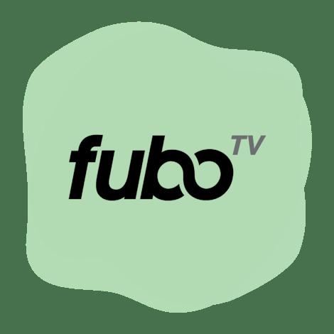 fuboTV logo in a circle