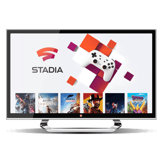 Google Stadia interface on a desktop.