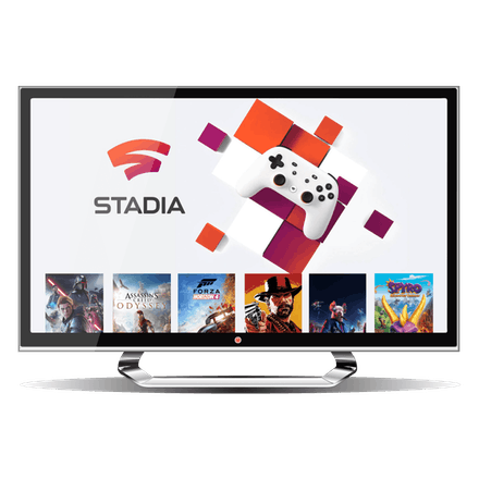 Interfaz de Google Stadia en una desktop.