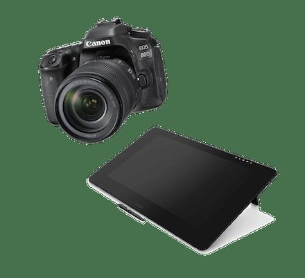 Canon EOS 80D camera - or - Wacom Cintiq Pro tablet