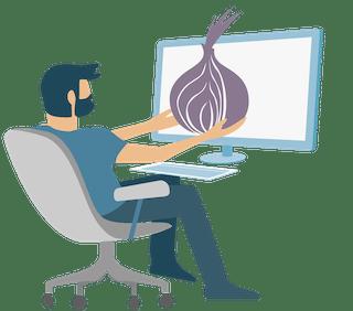 Tor onion symbol.
