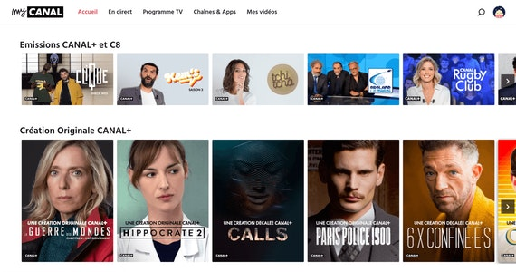 Original series on Canal+ streaming channels