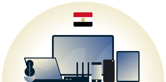 Egypt VPN protecting a variety of devices.