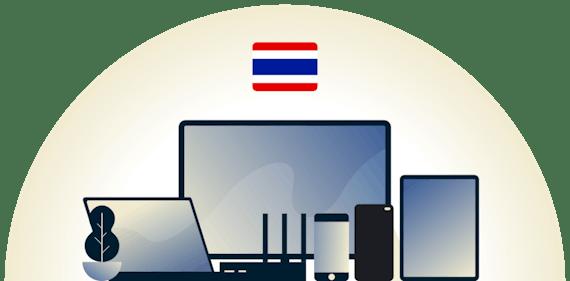 Thailand VPN dat een aantal apparaten beschermt.